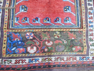 Antique Anatolian Konya Village Prayer Rug