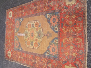 """alireza super rare antique over 130 years old persian senneh oriental rug measures 4' 6"""" x 6' 6"""" great drawing ,worn ,4"""" tear ... read more Ask about this  price:  ask alireza's pages  sold thanks"""