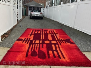 """vintage RYA rug excellent condition 8' 2"""" x 11' 2"""" can send more pictures if interested 695 plus shipping. SOLDDDDDDDDDDDDDDDDDDDDDDDDDDDDDDD"""