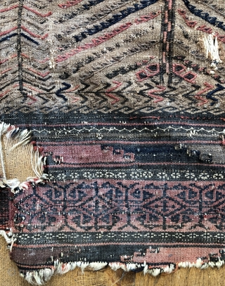 Antique Baluch camel ground sofreh size 82 x 123