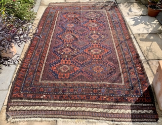 Good antique Baluch main carpet ca 1860-80  published in Wisdom Baluch collection plate 20 size 2.8 x 1.44 m