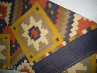 Vintage swedish Killim. Size 3by2.3 feet.