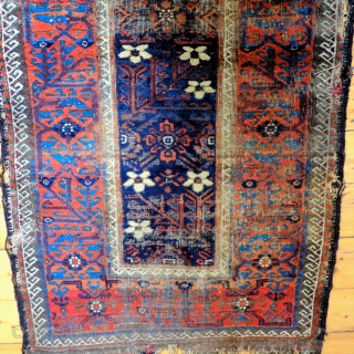 An early Mina Khani Persian Baluch Rug 