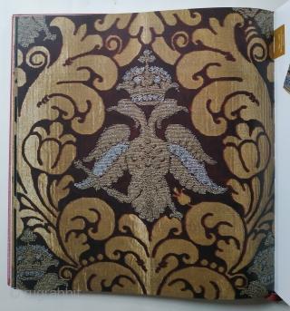 Vishnevskaia, I. I. Dragotsennye tkani. [Precious Textiles]. Moscow, Khudozhnik i Kniga Publishing, 1st ed., 4to (30 x 29cm), n. pag., numerous colour illus., decorated boards. Main text in Russian, Summary in English.  ...