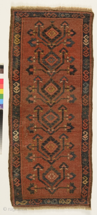 Kyrgyz chavadan, Ferghana valley, late 19th century, 92 x 38 cm, natural colours, tree of life design, rare
