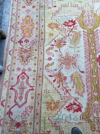 Beautiful Anatolian Ushak fragment Rug Size.400x310 Cm good conditions need very small repair
