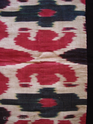 Silk Ikat fragment .