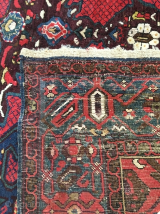 Antique Kuba Gymyl village rug with two concentric medallions, c 1910, 170x407cm (Sold)