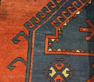 """Antique Kazak Mehrabli rug with camel motives, Tovuz district, Azerbaijan, c1900. Size: 140x200cm (4'7""""x6'6""""). Brown and ivory wool warps twisted and soft red wool wefts. Good original condition. No repairs. All good  ..."""