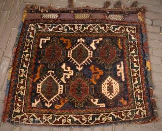Cloud band khamseh bag, natural colours, soft wool, pliable, full pile, a beauty! 78x73 cm.