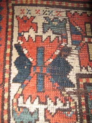 Antique Caucasian Memling Gul Rug. Fantastically smashed but...