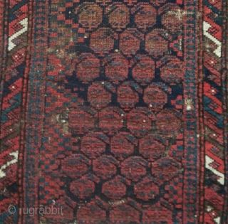 Baluch balisht, older Sistan type with botehs, nice and thin.