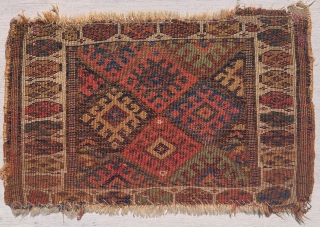 """Small Jaf Kurd bagface, 1'10""""x1'2"""" with staggered knotting"""