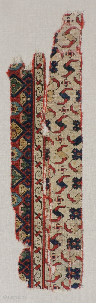 An exceptional 16th/ 17th century Western Anatolian fragment woven with an adept mastery of design and color. This piece represents an extraordinary design type from which several known later Central Anatolian  ...