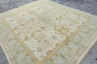 Fresh arrival: Antique square like Oushak or Amritsrar  10'4 x 8'9 or in EUROPE 321 x 272cm