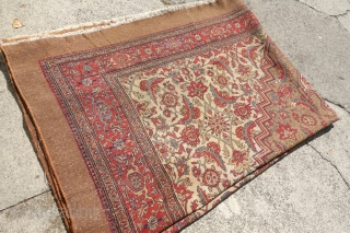 Antique large and soft unique Camel carpet, 11'0 x 15'8 or 335cm x 481cm