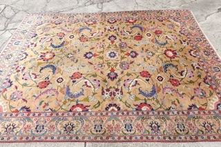 Fine antique Benlian Signed most decorative Tabriz, 9'4 x 12'5 / 288cm 382cm