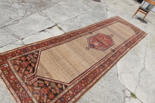Antique great condition camel palace runner , 125cm x 418cm, please ask.
