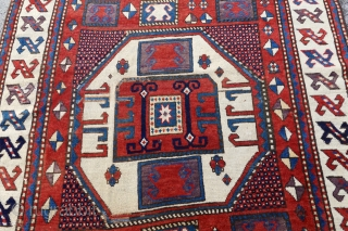 Antique Karachoff with a unique ALEPH border.  156 x 230cm, please ask.