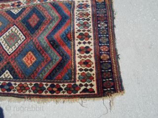 24X40inch JAF Kurd Bag Face. Nice colors Good wool Some border loss. PayPal and ship to USA lower 48 only
