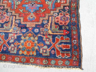 30X52inch Old Hamadan? Kurd Pattern 2.6X4.4ft older small hamadan