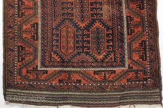 A splendid and very attractive Qalamdani Baluch. Second half 19th century. 3-8 x 6-3 ft.