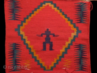 """Germantown Figurative Loom Sampler, Circa 1880s, dimensions: H: 22"""" x W: 19""""  Brant Mackley Gallery is always seeking American Indian and other tribal items.  Also wanted: backcloth from Indonesia.  www.brantmackley.com  717-554-2176,  Two Gallery  ..."""