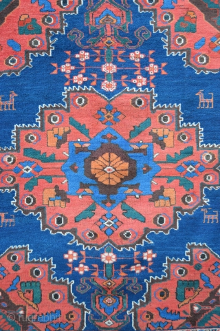 """This is a very attractive rug of the Afshar tribes from Kerman Province, southern Persia circa 1900 in excellent natural colours and pile - 1.70 x 1.23m (5' 7"""" x 4' 0"""")."""