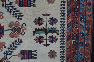 """Very attractive and decorative Afshar rug circa 1900 in good overall condition - 2m x 1.60m (6' 6"""" x 5' 3""""). Price includes shipping."""