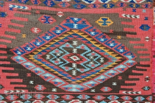 Attractive East Anatolian Kurdish Kilim woven in two parts and in excellent condition - 2.10 x 1.50m (7' x 5').