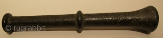 Ottoman Brass Mortar & Pestle. Early 18th C. Height of mortar 10.5 cms. Weight just under 2 kgs. Great patina.