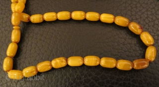 Old Amber Worry Beads (TASBEH/MASBAH).