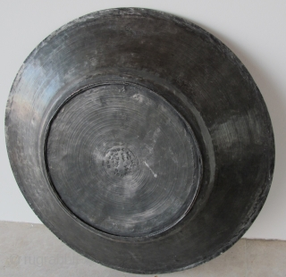 Tinned Copper Armenian Inscribed Plate. Late 18th c. D = 36 cms