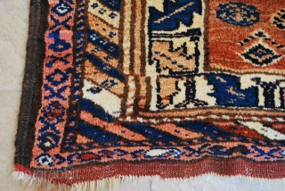 Antique Kurdish rug. 95 x 154 cm. All natural colours, High pile in very good condition