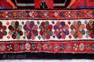 Antique Veramin (Varamin)runner bearing an exquisite palette of natural colours. All wool. Full pile, in near mint condition. 105 x 345 cm.