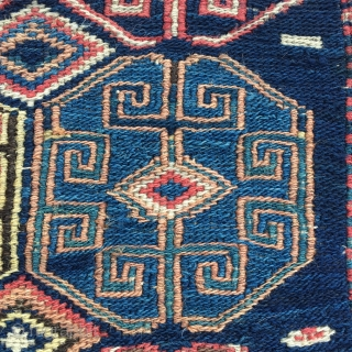Beautiful Shahsavan sumack bag face. Cm 54x52. Second half 19th c. Long years in an Italian collection. Great saturated colors. In good condition. Wanna see more Shahsavan bags & other good stuff?  ...