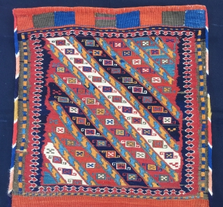 Shahsavan Sumack khorjin bag. Cm54x54. In mint condition. Great pattern, amazing colors.