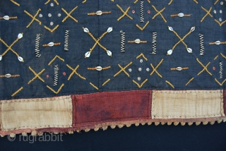 Kuba n'tchak, loin cloth in raffia. Cm 50x340. For once an early piece, beginning 20th century. Sold legally after came out of a Belgian museum. In great condition. . --- This is  ...