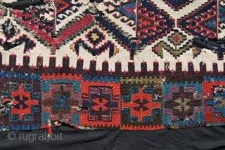 East Anatolia kilim fragment. Cm 120x190. IMHO early 19th c. Colors are incredibly beautiful. Museum piece! Ask for more pics and infos. — Try to buy it only if you really deserve  ...