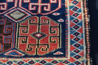 Shahsavan sumack bag face. Cm 54x52. Second half 19th c. Out of an Italian collection. Great saturated colors. In good condition.