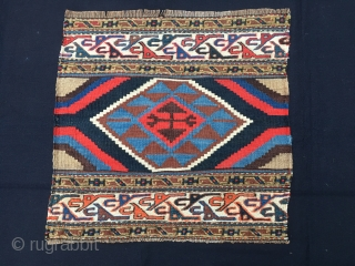 Twin kilim & sumack panels attributed to the Shahsavan tribal group. Cm 46x48 and 46x51. Early 20th century. Great sumack graphic tripes. Lovely, though mixed, colors. In very good condition. Get on  ...
