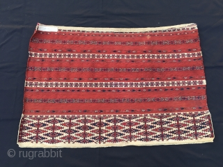 Turkmen Ak Cuval Tekke. Cm 75x110. Most beautiful, finest, best pattern, best colors, best condition. Collectors!