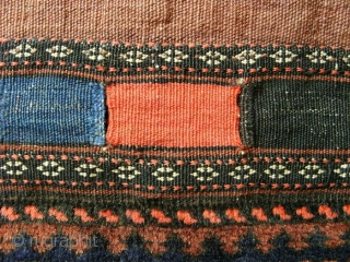 "Baluch double bag; end of 19th c.; 65 c 166 cm (2`2"" x 5`5""), front sides in perfect condition with glossy wool and extremely precise knotted, in each motive one knot (silk?)  ..."