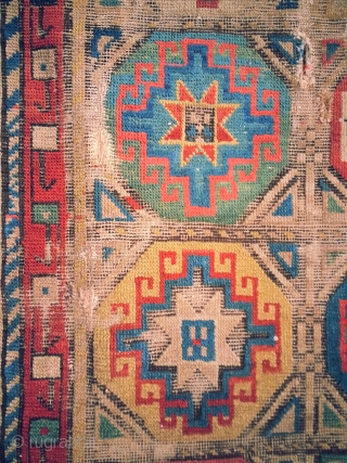 Shahsavan Rug, lovely colours but lots of fuchsine which dates it to a respectable 1875?