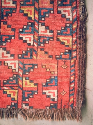 Ersari Small Main carpet, 19th Century, all good colours. 82in x 77in. Rare, visually intriguing Xmas gift.