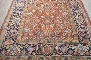 An old Heriz rug in excellent original condition,hand washed and mothproofed. First quarter 20th century. Nice size. 189x160