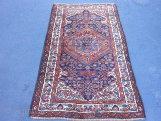 Persian Hamadan, early 20th century, 3-8 x 6-2 (1.12 x 1.88), rug was hand washed, very good condition, full pile, Kurdish, original edges, original ends (one original  braided selvage, one overcast),plus  ...