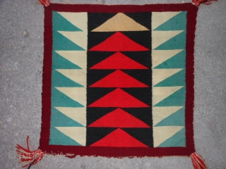 Navajo Germantown Sampler, early 20th century, 1-7 x 1-7 (.48 x .48), good condition, plus shipping.