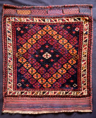 Qashqa'i Darreshuri bag face, Late 19th Century.  Great composition and wonderful soft wool.  Great workmanship in the enclosure area and selvedges.  51 x 60 cm