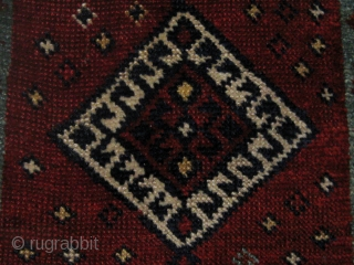 """Antique Anatolian yastik, late nineteenth century, all natural saturated  dyes, edges and ends compromised as shown, but no repairs or reweaves.  18"""" by 30"""".  Photos 2, 8, and 9  ..."""
